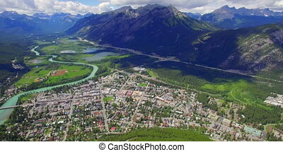 Establishing shot Banff Alberta Canada