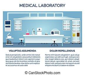 Medical laboratory interior - Medical laboratory vector...