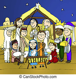 school nativity - A school play nativity