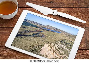 northern Colorado foothills aerial view - northern Colorado...