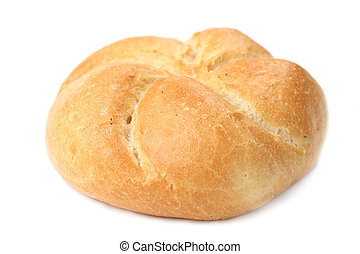 Bun - Close-up of a bun isolated on white background....