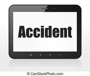 Insurance concept: Tablet Pc Computer with Accident on...