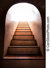 Light at the end of staircase