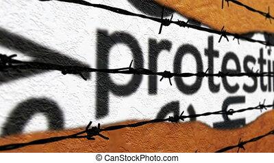 Forbidden protest concept