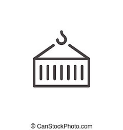 Container transportation line icon