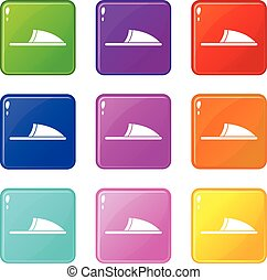 Slippers icons 9 set