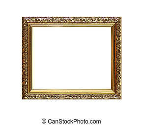 Antique golden picture or photo frame