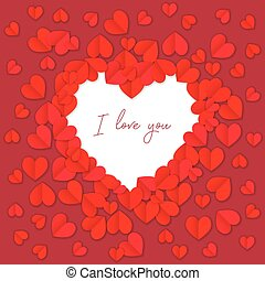 I love you background with hearts