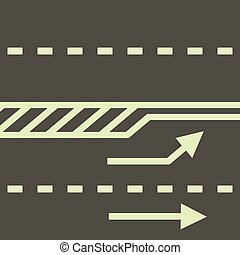 Autobahn icon, cartoon style - Autobahn icon. Cartoon...