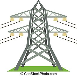 Electric tower icon, cartoon style - Electric tower icon....