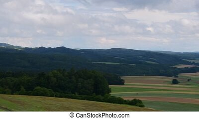 View of European landscape in the summer time. Mountain...