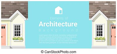 Elements of architecture background with a small house 10 -...