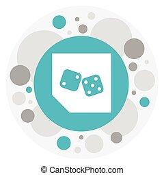 Vector Illustration Of Game Symbol On Backgammon Icon....