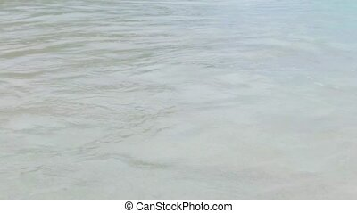 sea or indian ocean waves on seychelles beach - travel,...