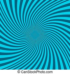 Spiral abstract background - vector graphic from twisting rays