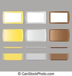 Set of rectangular salve - Set of rectangular yellow, white,...