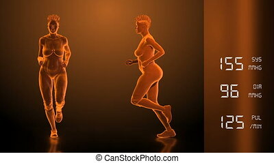 Running woman - healthy lifestyle concept. Loop