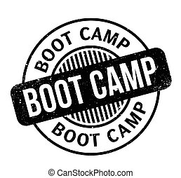 Boot Camp rubber stamp. Grunge design with dust scratches....