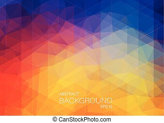 Bright color background with triangle shapes