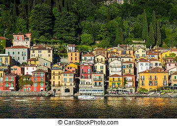 Varenna III - view from varenna, lake como, italy, colorful...