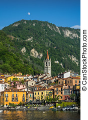 Varenna IV - Colourful picture of Varenna, Italy. clear sky,...