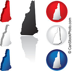 State of New Hampshire Icons - New Hampshire Icons