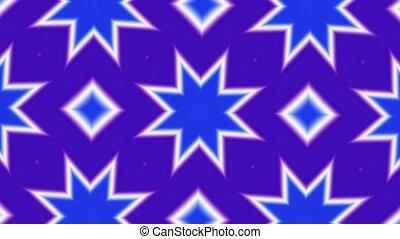 Kaleidoscope Purple Blue HD Loop - HD Loop. Purple Blue...