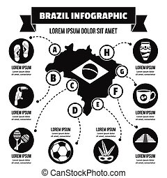 Brazil infographic concept, simple style - Brazil...
