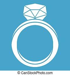 Wedding ring icon white