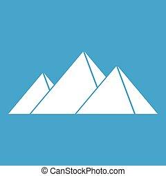 Pyramids in Giza icon white