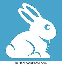 Easter bunny icon white
