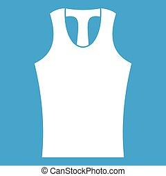 Sleeveless shirt icon white