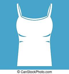 Blank women tank top icon white