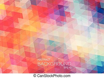 Bright color triangle background - bright color background...