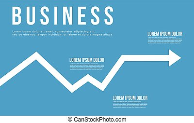 Business Infographic arrow chart design