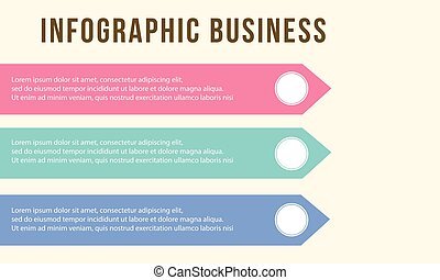Infographic step business chart design