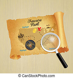 treasure hunt parchment