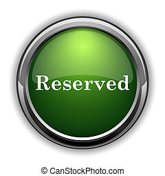 Reserved icon. Reserved website button on white background