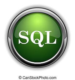 SQL icon0 - SQL icon. SQL website button on white background
