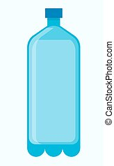 Big plastic bottle of fresh water isolated illustration -...