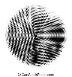 Halftone circles, halftone pattern . Dot vector illustration
