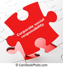 Finance concept: Corporate Social Responsibility on puzzle background