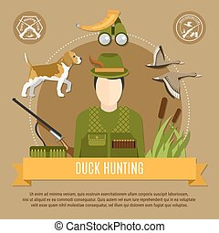 Duck Hunting Concept