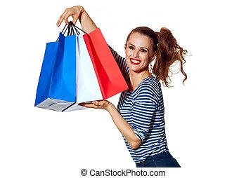 bolsas, compras, fashion-monger, actuación, elegante,...