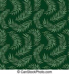Palm leaf pattern. Vector illustration. Decor element