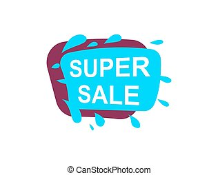 Super sale speech bubble for retail promotion