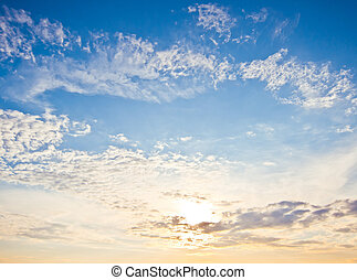 Beautiful sky and clouds summer good weather