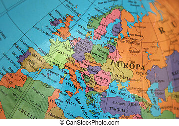 map of continental Europe