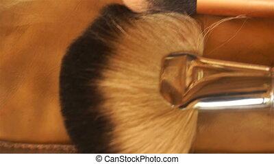 set soft makeup brush close-up