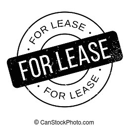 For Lease rubber stamp. Grunge design with dust scratches....
